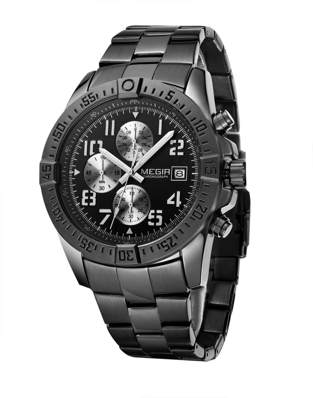 Megir Watch Luxury Waterproof Quartz Watches Men Military Sport Clock 2030 - MEGIR