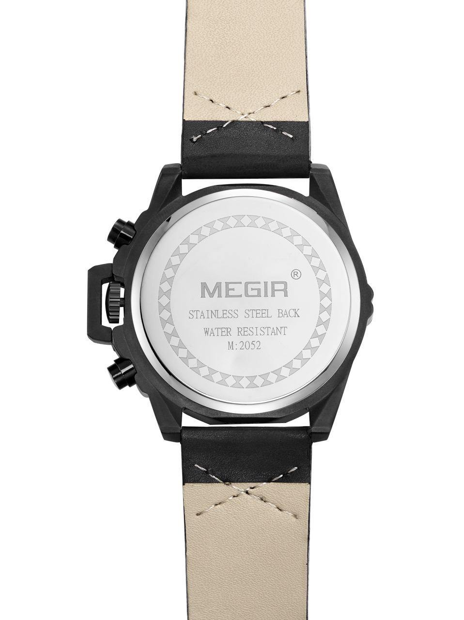 MEGIR luxury brand sports watch, men's wristwatch, military quartz chronograph, Clock men's wristwatch, Men's watch, 2052 - MEGIR