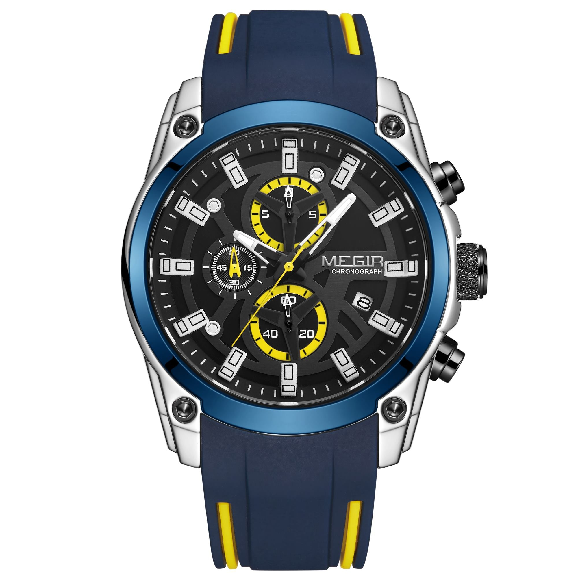 MEGIR Original men's watch, sport business quartz watch 2144