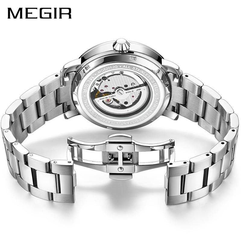 Luxury MEGIR Automatic Mechanical Watch Men Stainless Steel Business Men Watches 62052 - MEGIR