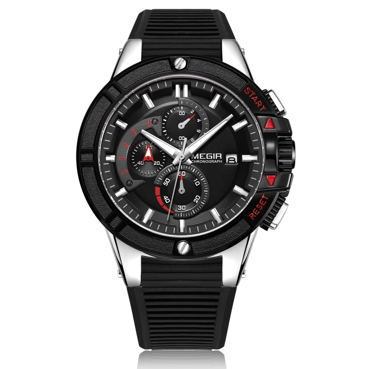 MEGIR Watch for Men, Silicone Watch 2095 - MEGIR