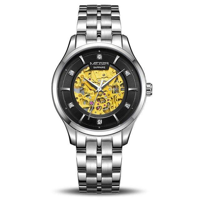 MEGIR Automatic Mechanical Watch Top Brand Luxury Skeleton Men Watches Business MS62058 - MEGIR