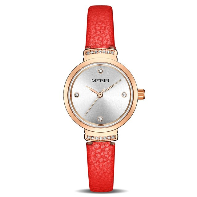 MEGIR Fashion Women Watches Small Quartz Ladies Watch Womem Bracelet Clock 4207 - MEGIR