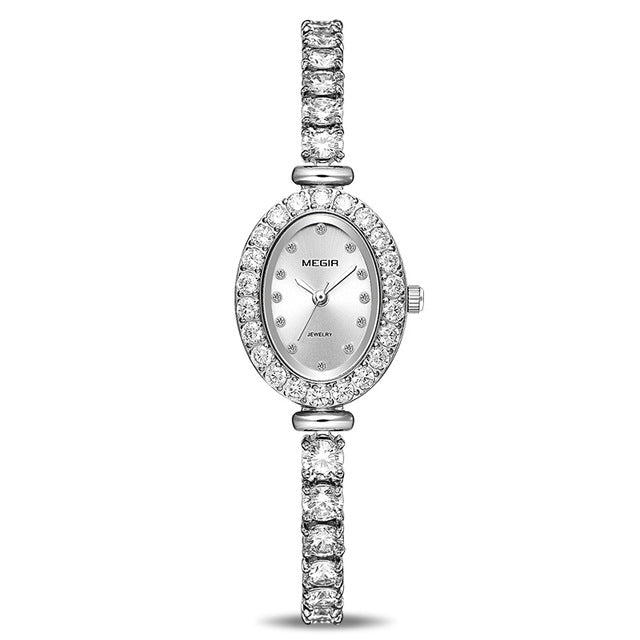 MEGIR Women Luxury Watch Rose Diamond Women Bracelet Watches Ladies 4206 - MEGIR