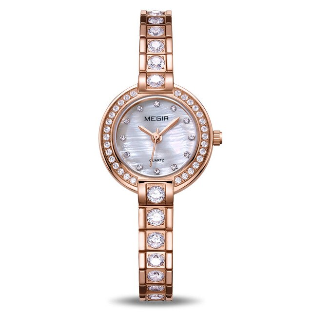 MEGIR Women Bracelet Watches Top Brand Luxury Rose Brass Lover Ladies Watch 4203 - MEGIR