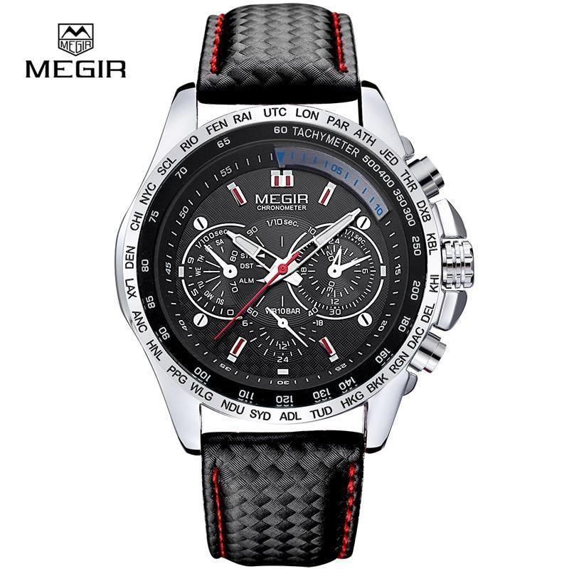 MEGIR Men Analog Luminous Casual Fashion Quartz Watch - MEGIR