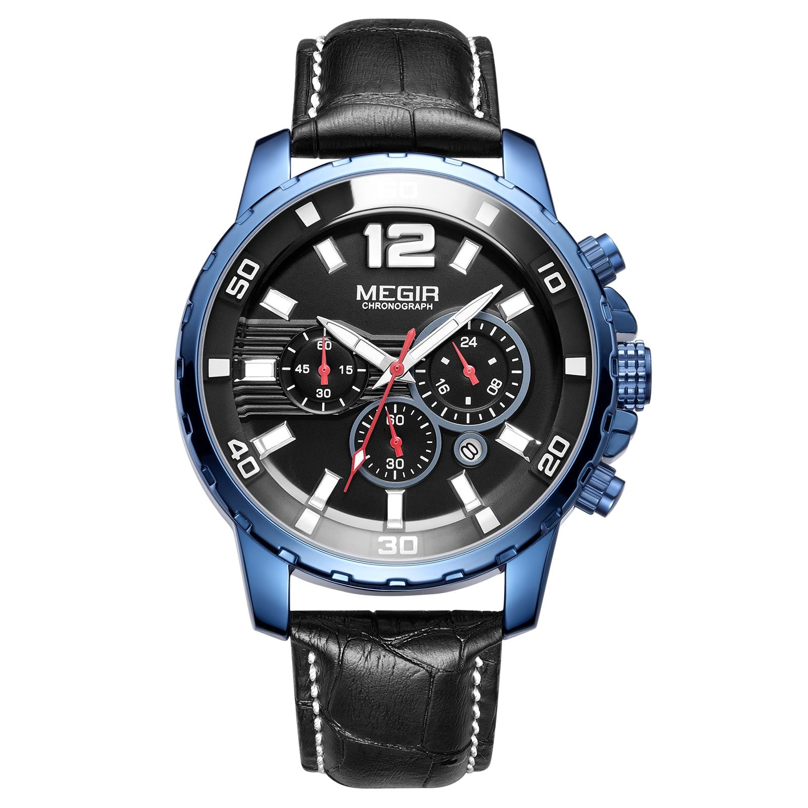 MEGIR Men's Quartz Chronograph Watch 2068