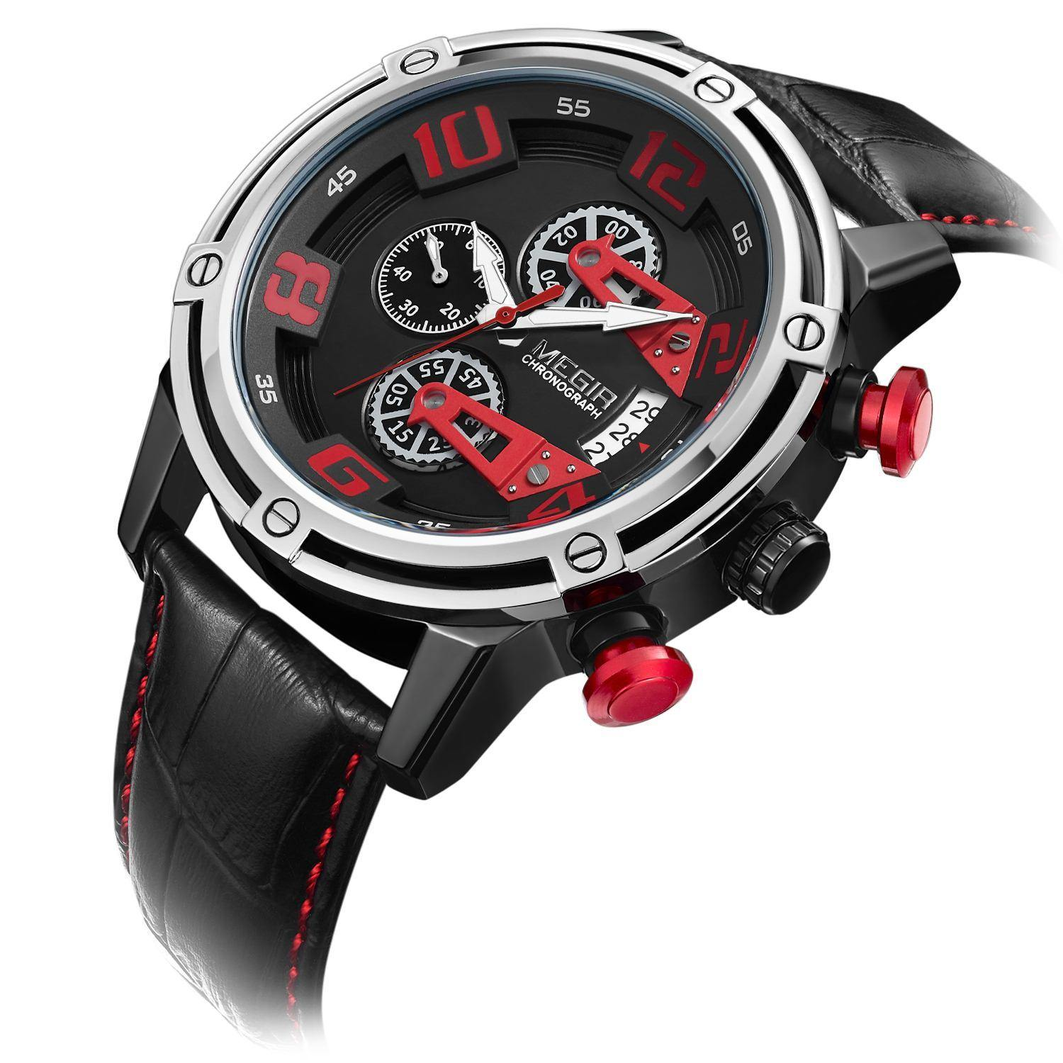 MEGIR Chronograph Sports Watch 2078 - MEGIR