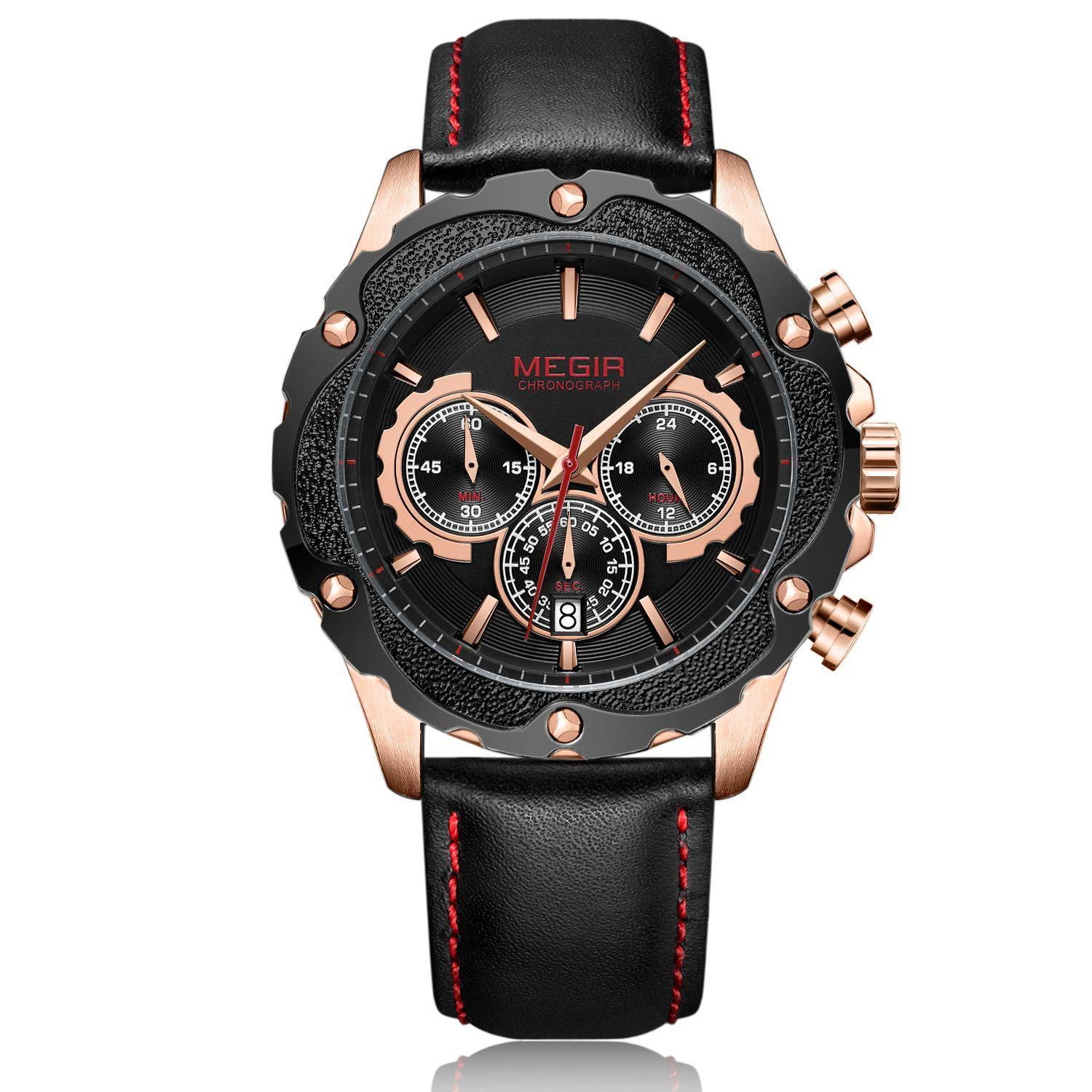 MEGIR Chronograph Sports Watch for Men 2070 - MEGIR