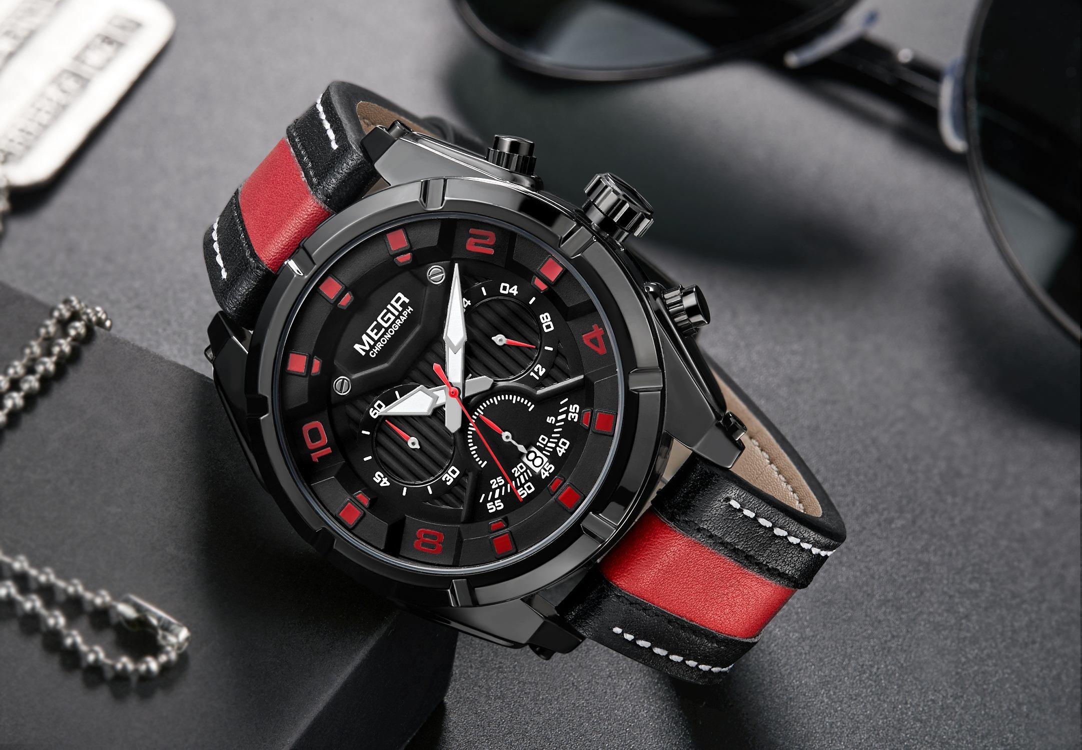 MEGIR sports watch chronograph 2076 - MEGIR