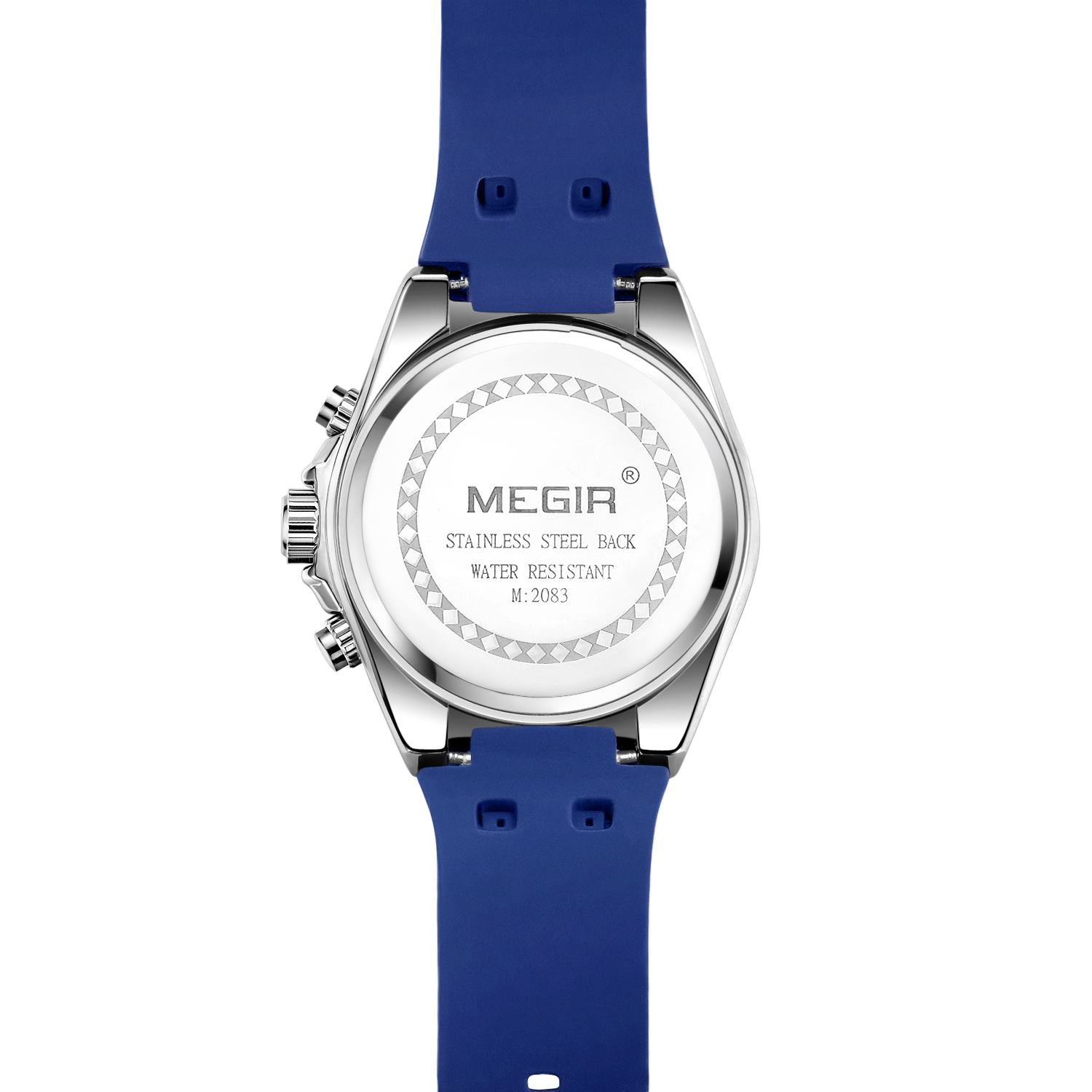 MEGIR MN2083 --Army Silicone Waterproof Luminous Chronograph Quartz Watches - MEGIR