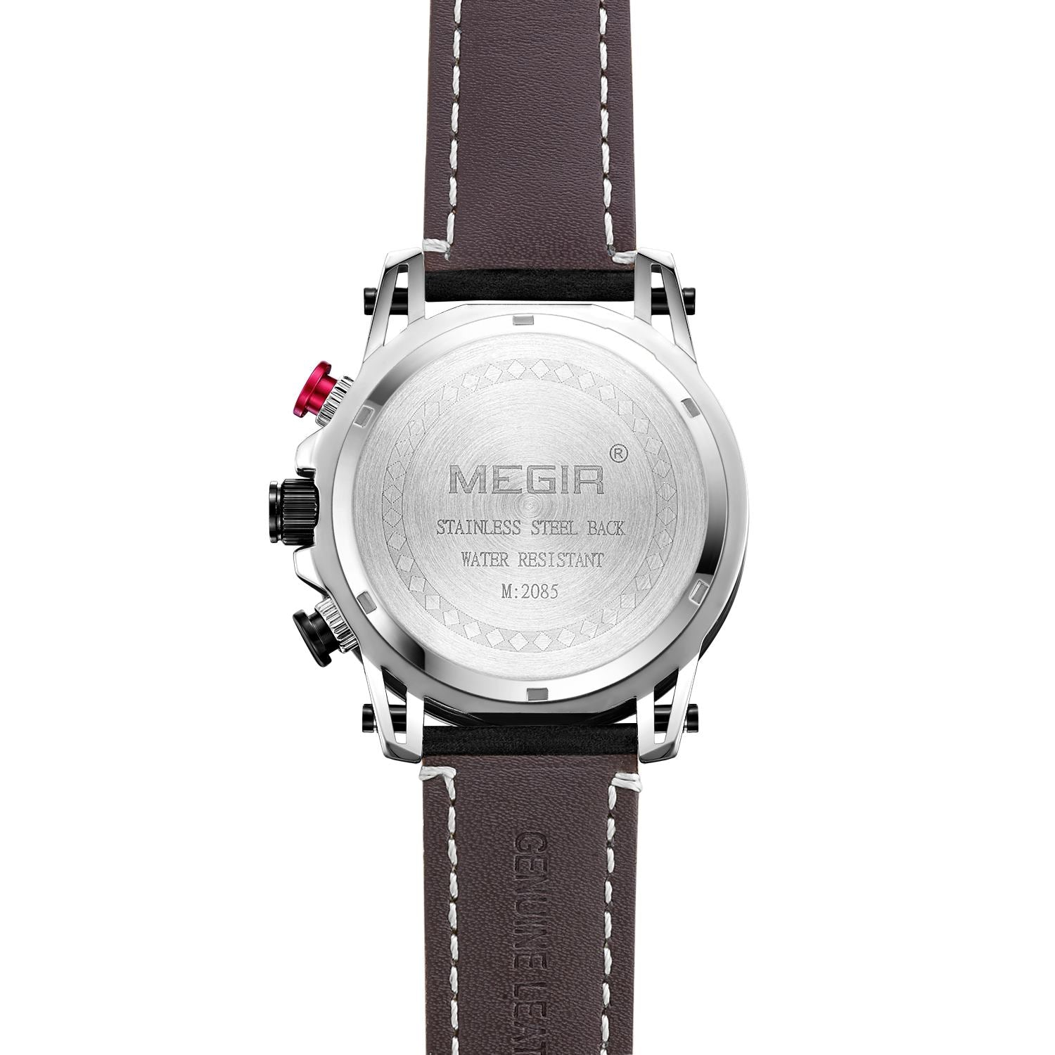 MEGIR sport watches luxury brand leather 2085 - MEGIR