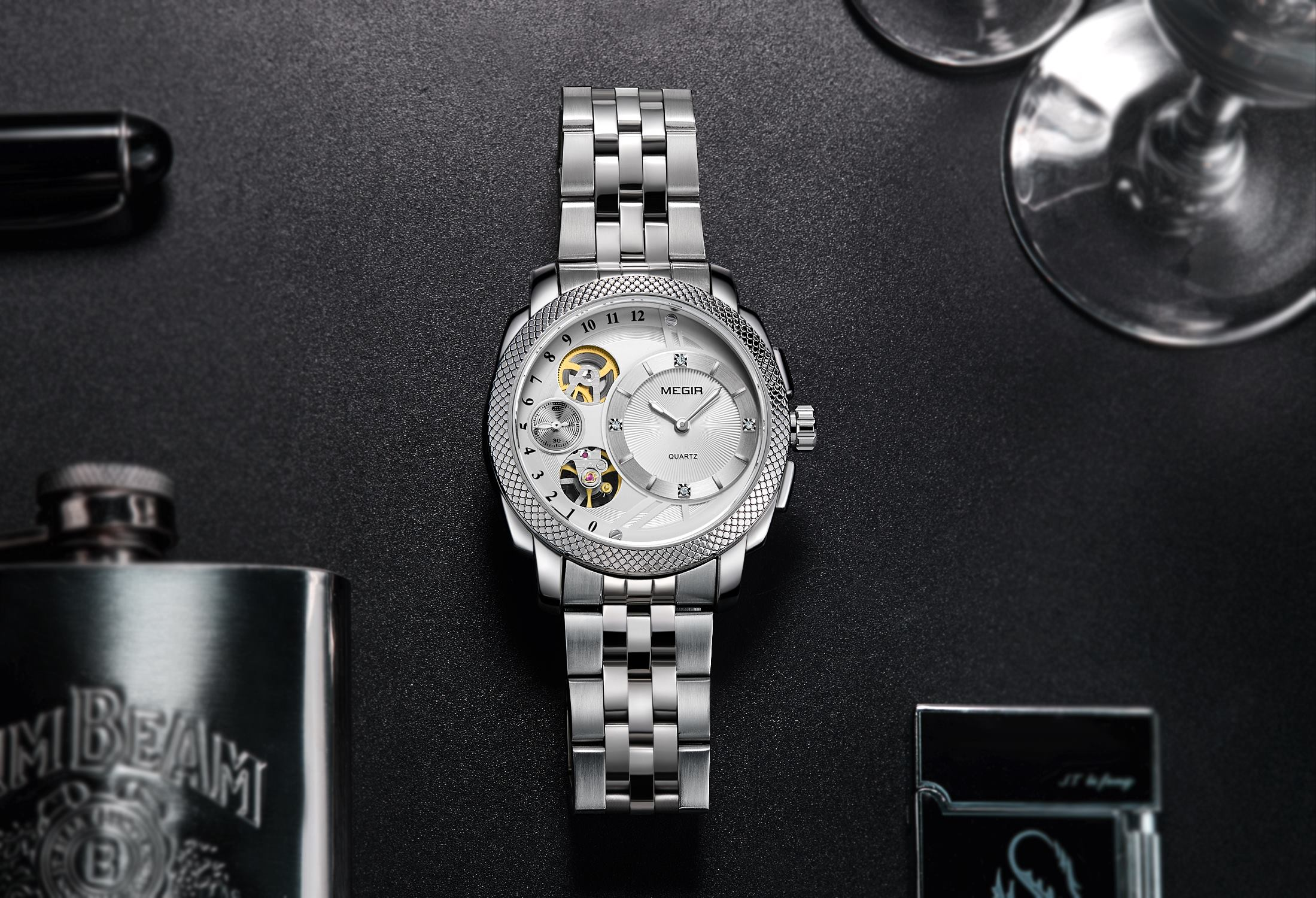 Men's business, luxury watch 2091 - MEGIR