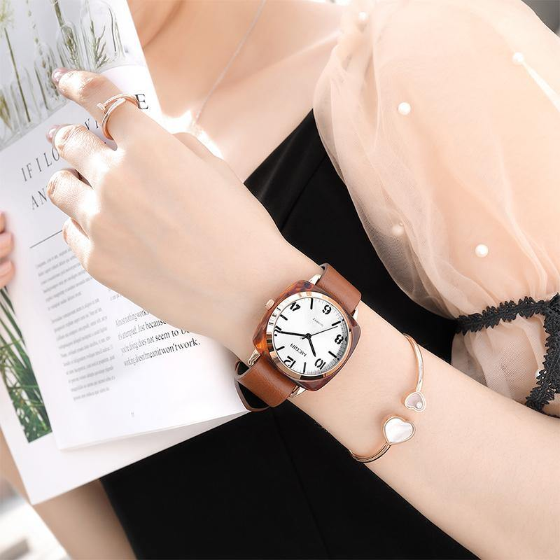 MEGIR Luxury Women Watches Leather Ladies Quartz Watch Women 4214 - MEGIR