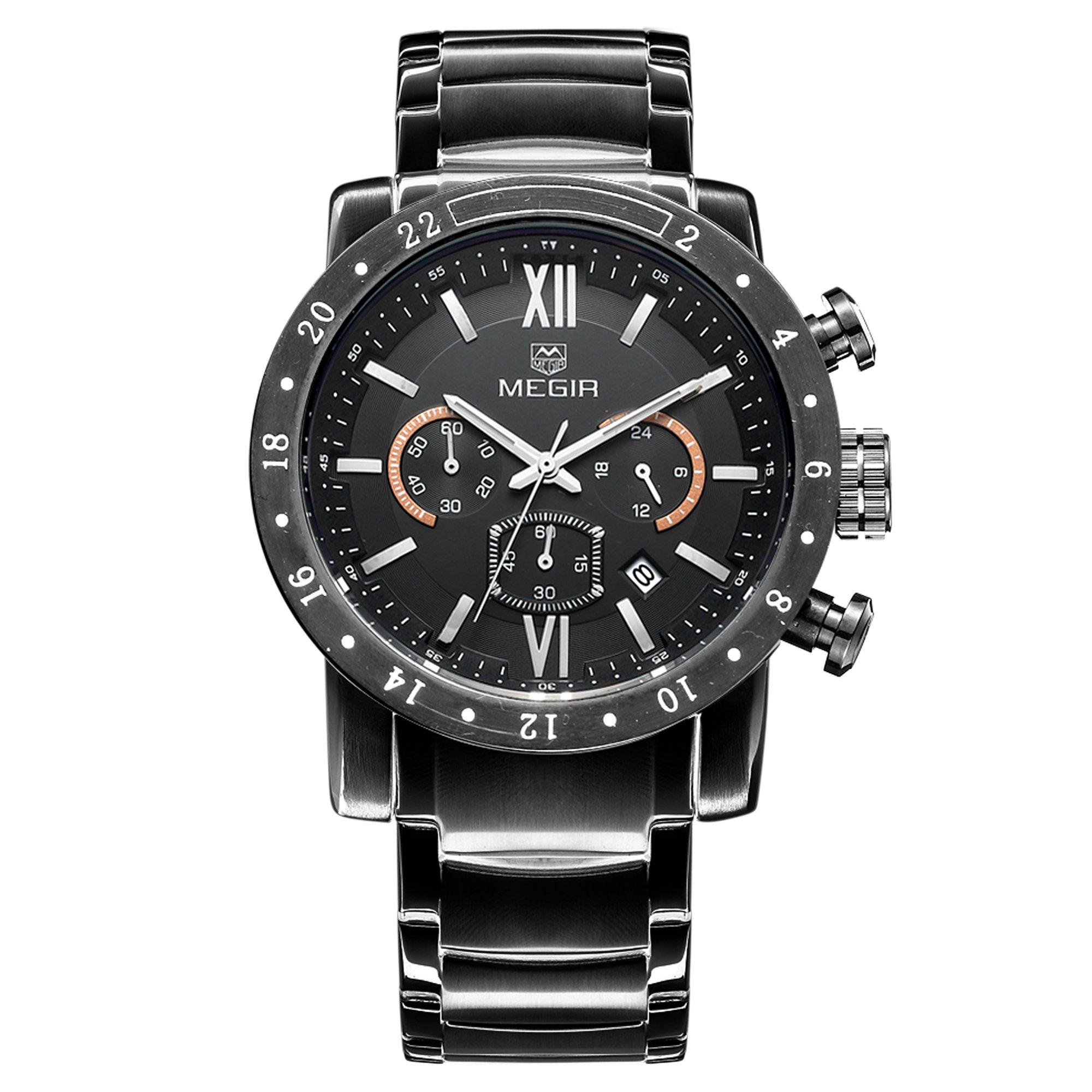 MEGIR Fashion Megir watch, quartz watch for men waterproof luminous wrist watch 3008 - MEGIR