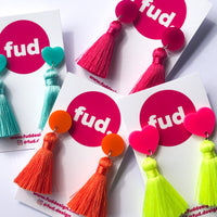 Tassel Pops - Neon Yellow and Hot Pink