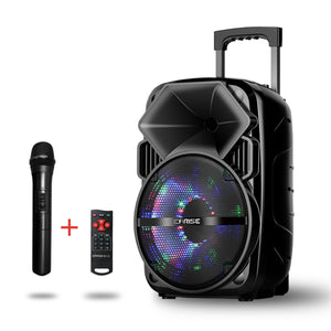 EARISE Bluetooth PA Speaker System with Wireless Microphone, Portable Outdoor Karaoke Machine - Fun Wireless Speaker for Party - V30 Black