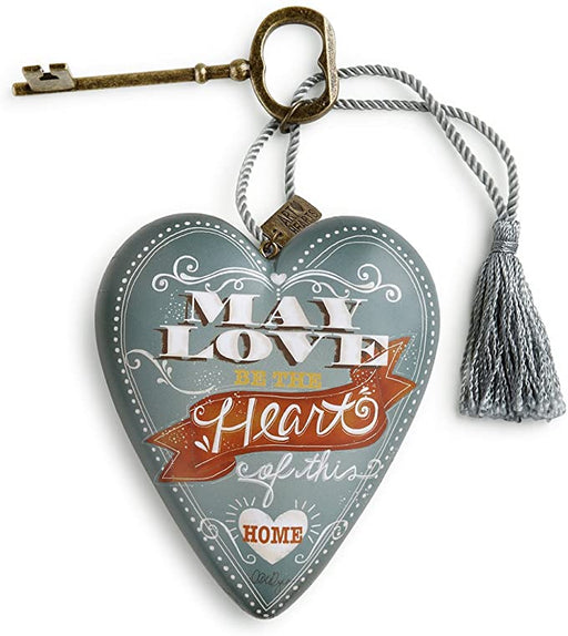 Ornament-Heart With Key-Love/Heart of This Home