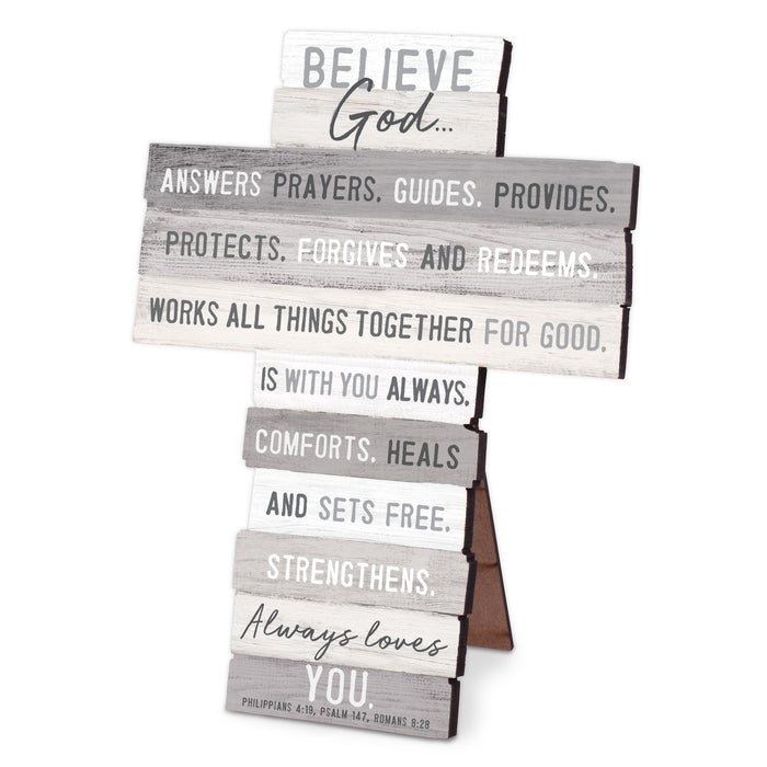 Wall Cross-Believe-Stacked Words-6.75x9