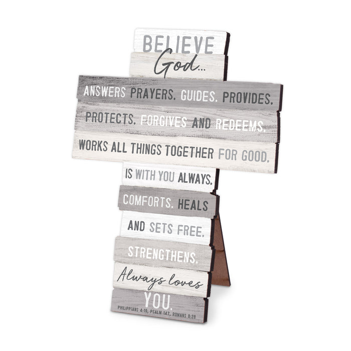 Wall Cross-Believe-Stacked Words-4.5x5.75