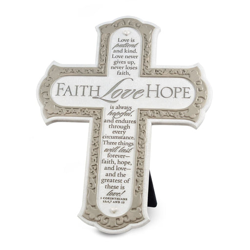 Wall Cross- Faith Hope Love