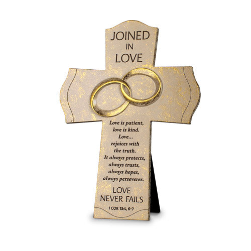 Wall Cross-Joined in Love-Wedding Rings