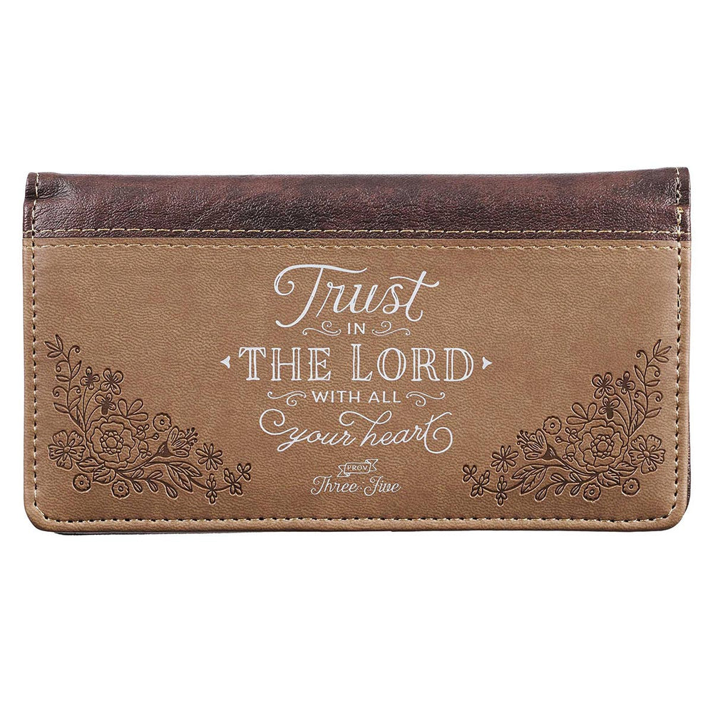 Checkbook Cover-Trust in the Lord-Brown