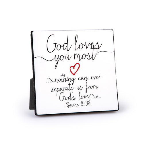 Plaque-God Loves You Most-Heart