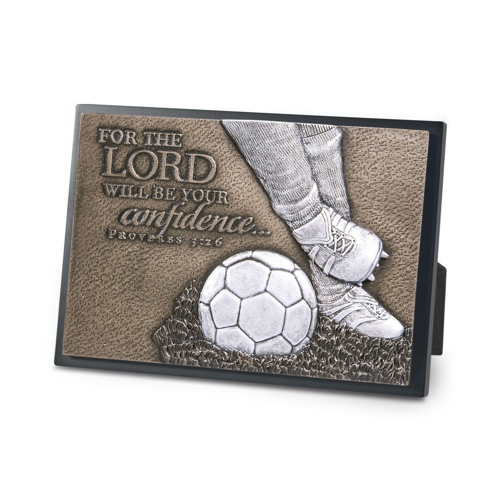 Plaque-Soccer-For the Lord-Mini Moments of Faith