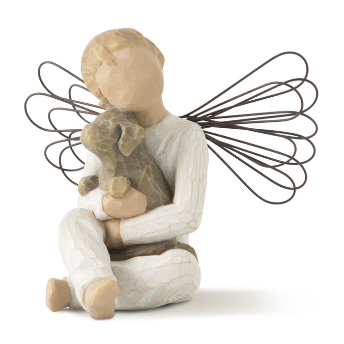 Figurine-Willow Tree-Angel of Comfort-Boy with Dog