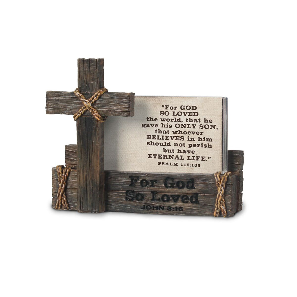 Scripture Card Holder-Cross