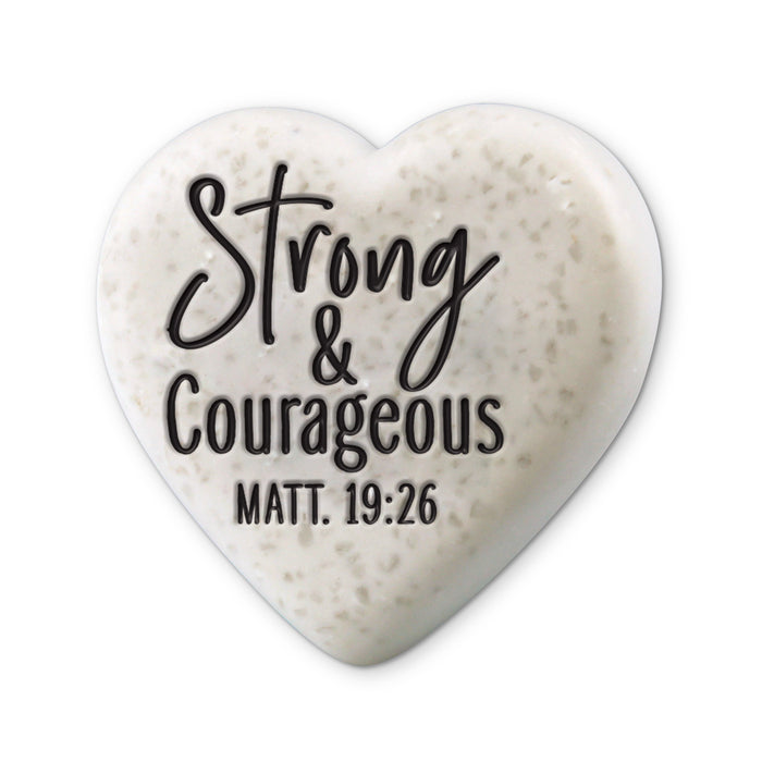 Heart Stone-Strong & Courageous