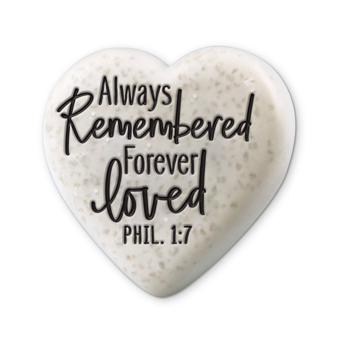 Heart Stone-Always Remembered Forever Loved