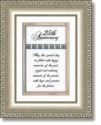Framed-25th Anniversary-Cubic Zirconia