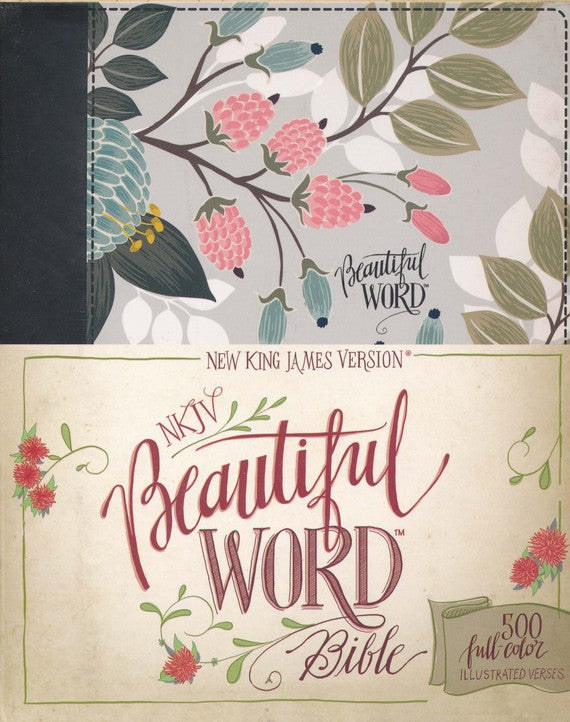 NKJV-Beautiful Word-Floral Hard Cover