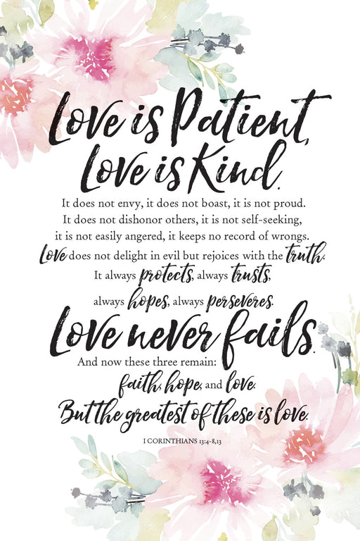 Plaque-Love Is Patient-1 Cor.-Floral