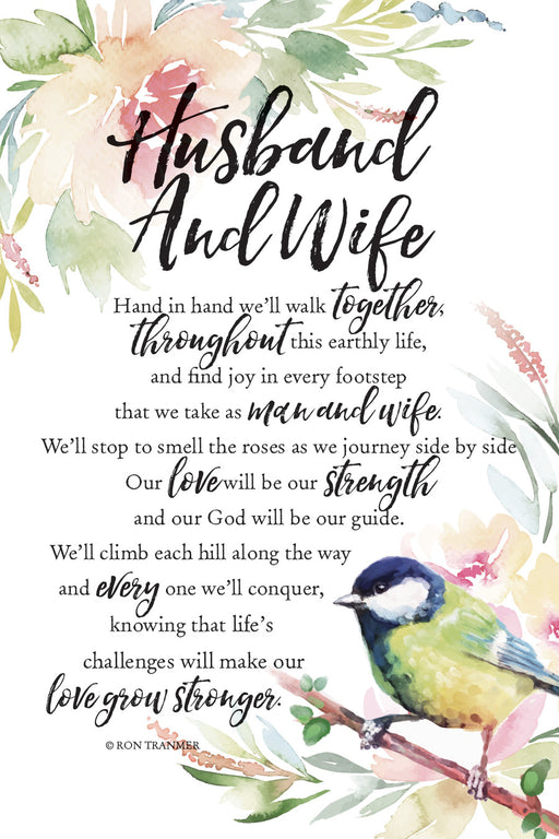 Plaque-Husband & Wife-Bird