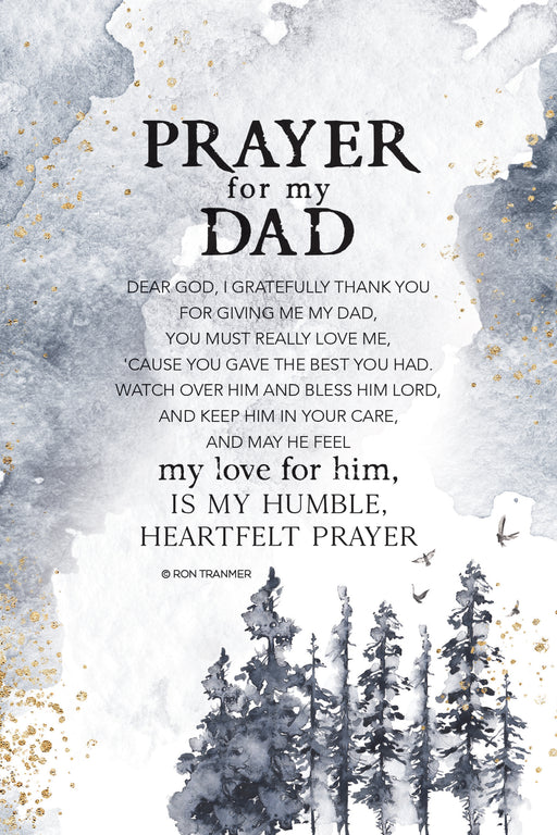 Plaque-Dad-Prayer For My-Gray/Trees