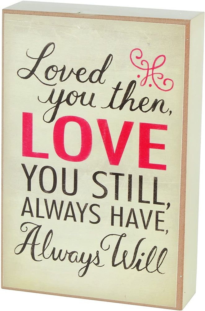 Plaque-Loved You Then Love You Still