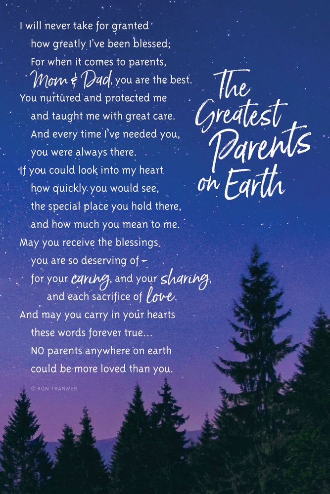Plaque-Parents-Greatest On Earth
