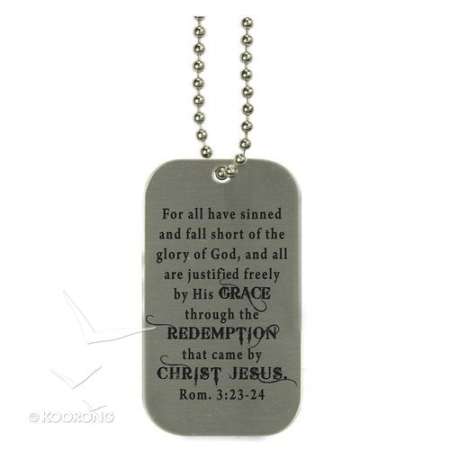 Pendant- Dog Tag-Redemption/Cross