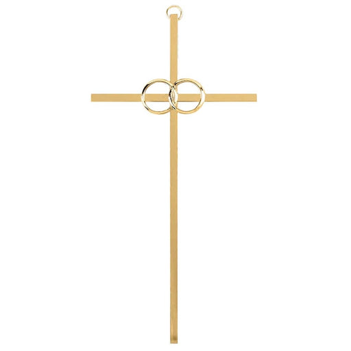 Wall Cross- Anniversary/ Wedding- Gold- 8inch