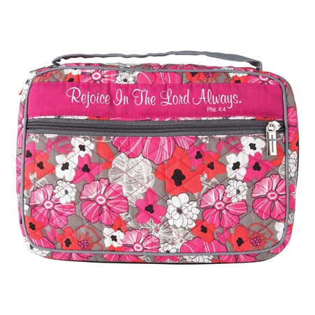 Bible Cover- Rejoice-Pink Floral