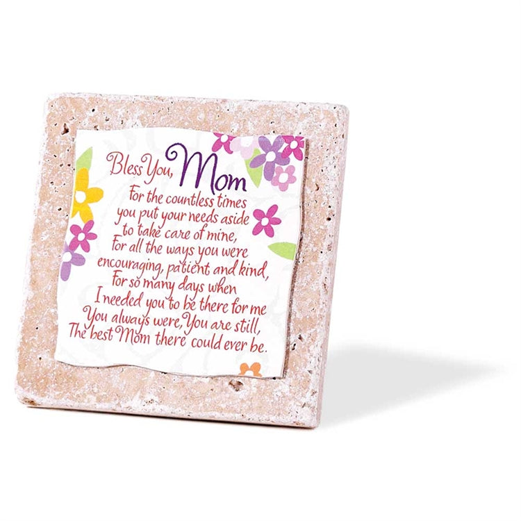 Plaque-Mom-Bless You-4X4 Tile