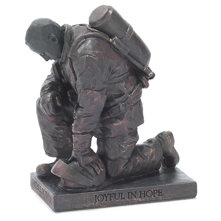Figurine-Firefighting Praying-Bronze