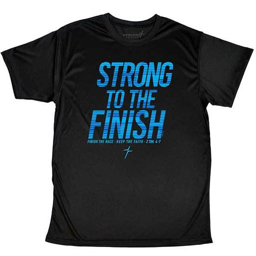 T-Shirt-Strong To The Finish-Black