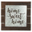 Plaque-Home Sweet Home-Galvanized Metal