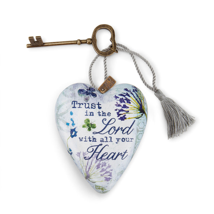 Ornament-Heart w/ Key-Trust in the Lord