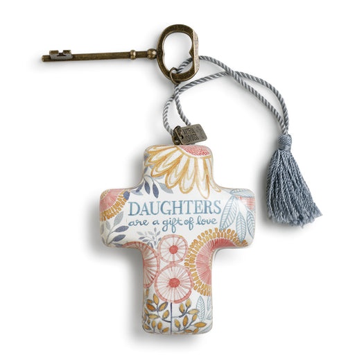 Ornament-Cross w/ Key-Daughters Are a Gift
