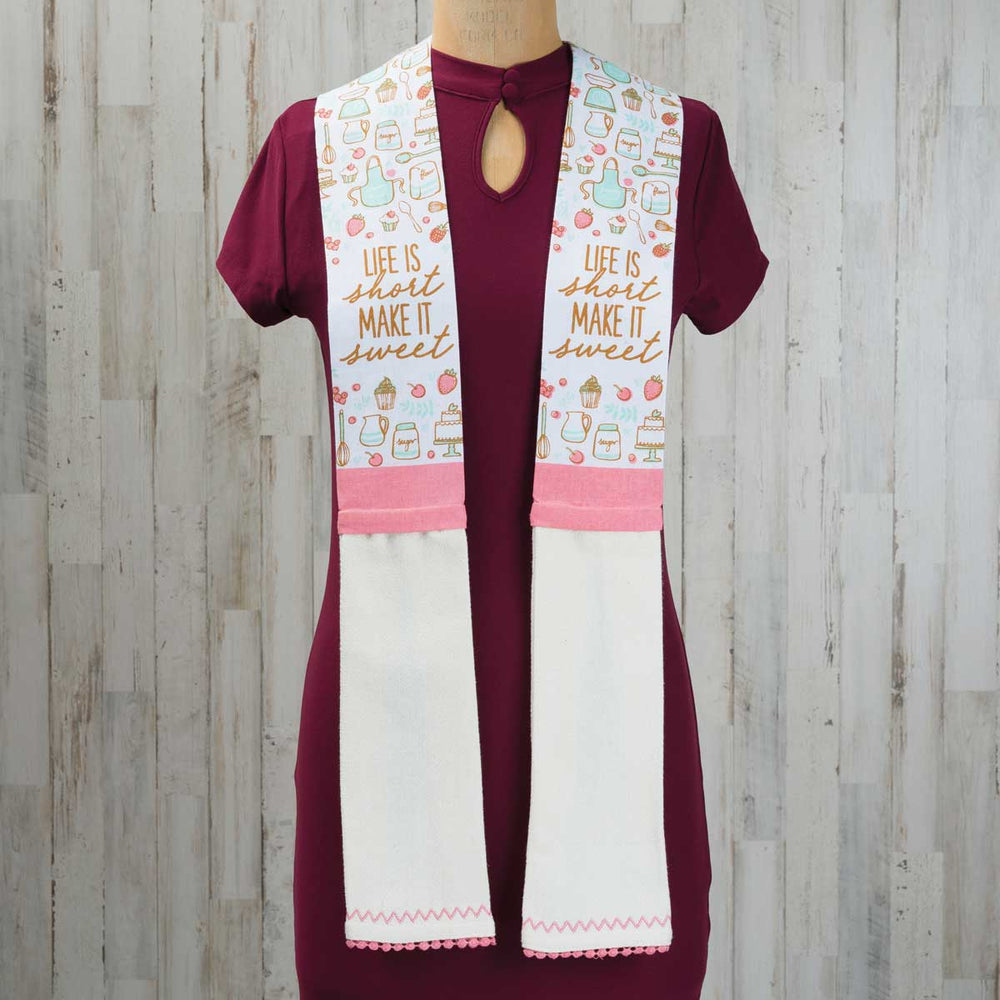 Kitchen Scarf Life Is Short Make It Sweet Christian Gifts Outlet